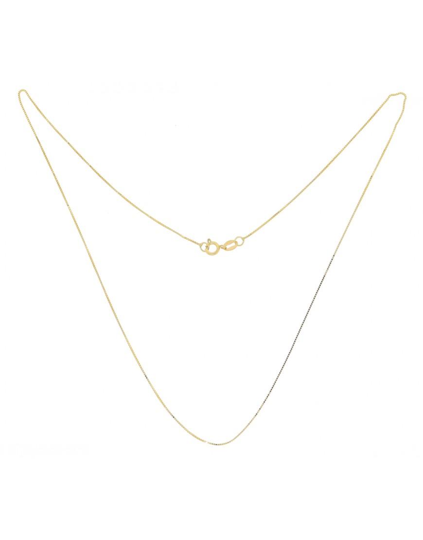 Corrente veneziana 40 cm 1 g em ouro 18 k e55b2a6251