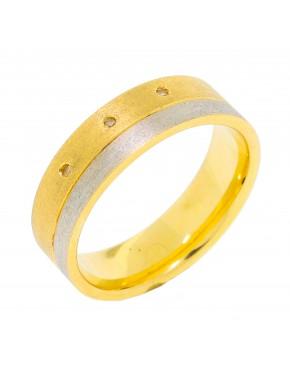 Aliança de casamento 3 brilhantes - 0011340