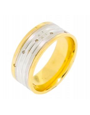 Aliança de casamento 5 brilhantes - 0011344