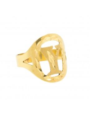 7ee9a51967384 Anel de ouro letra - 3047003