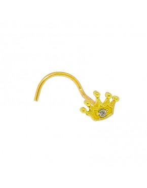 f4f8676f8989d Piercing de coroa com uma zircônia para nariz em ouro 18k - 0030067