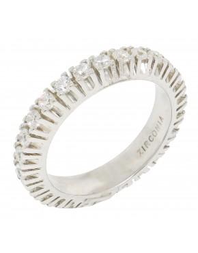 47f60205edee8 Anel de prata com banho de ródio - A31 - 12060225