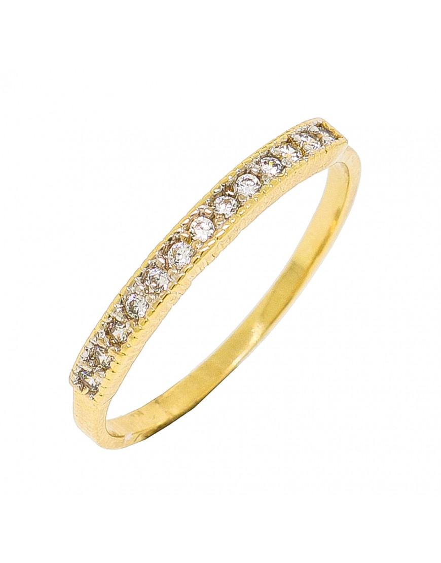 48bd9ab18581f Anel de prata meia aliança com banho de ouro amarelo - A853 popup Anel de prata  meia aliança com banho de ouro amarelo - A853