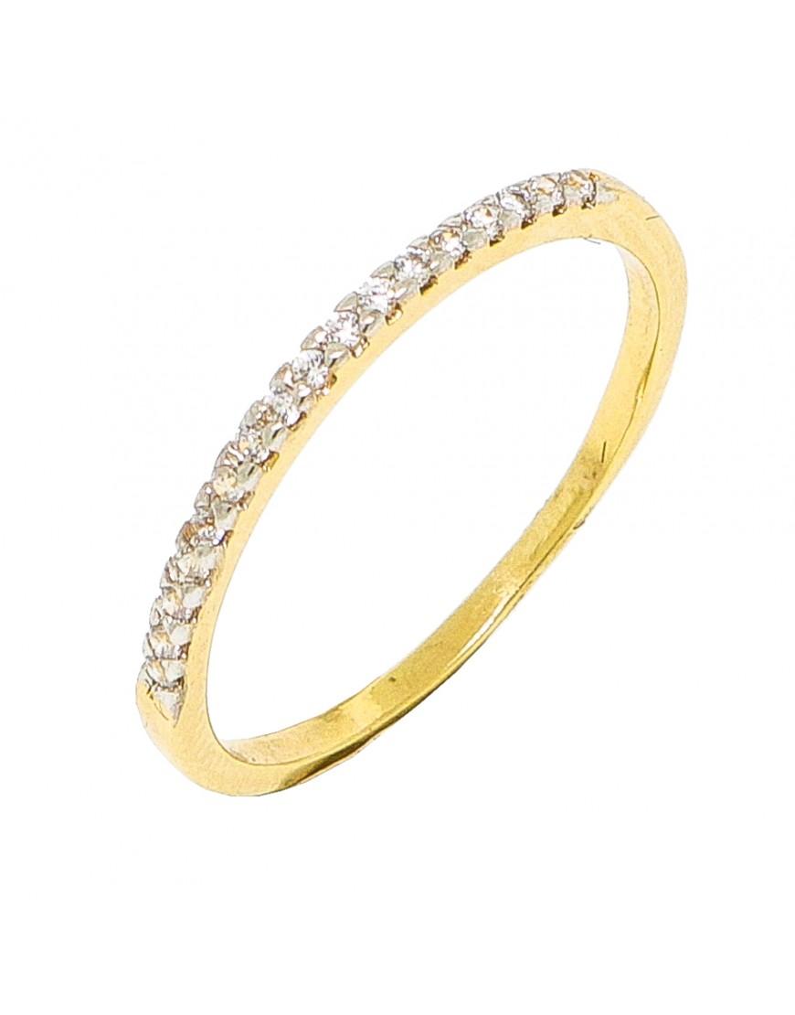 304d76e63155b Anel de prata meia aliança com banho de ouro amarelo - AL010 popup Anel de prata  meia aliança com banho de ouro amarelo - AL010