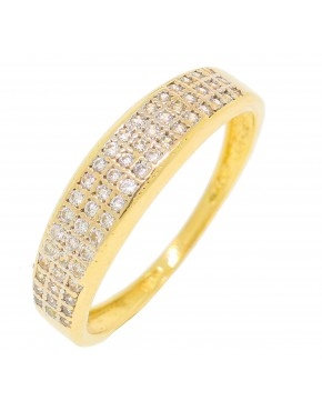 Anel com banho de ouro amarelo - A25 - A751