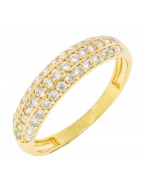 Anel com banho de ouro amarelo -  A25 - A806