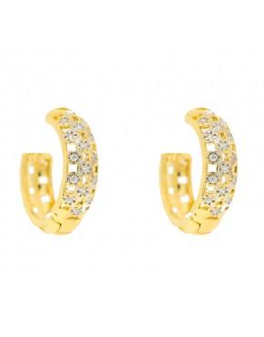 6d85462f8e1fa Anel de prata meia aliança com banho de ouro amarelo - A25 VI - A853