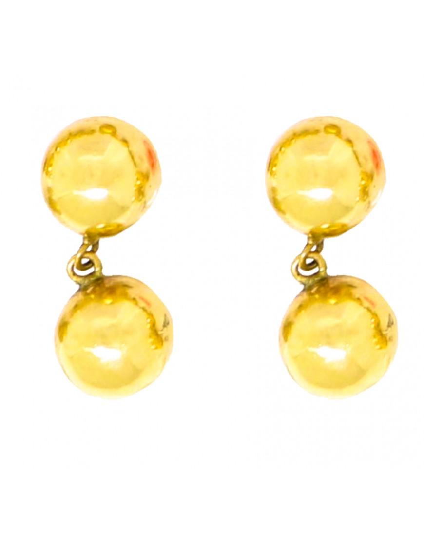 Brinco de bola fixa e pendurada brilho ou fosco em ouro 18k - 0025748 popup