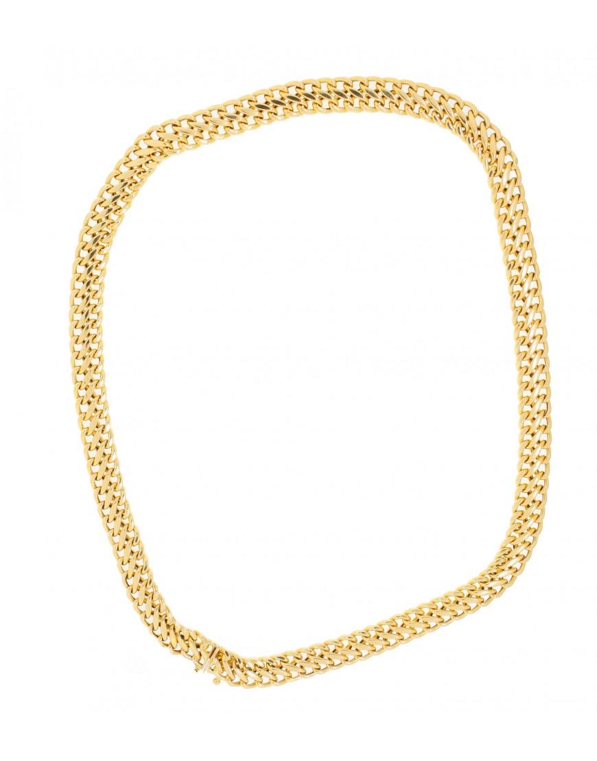 Corrente Lacraia 8 Gramas 45 Cm Em Ouro 18 K