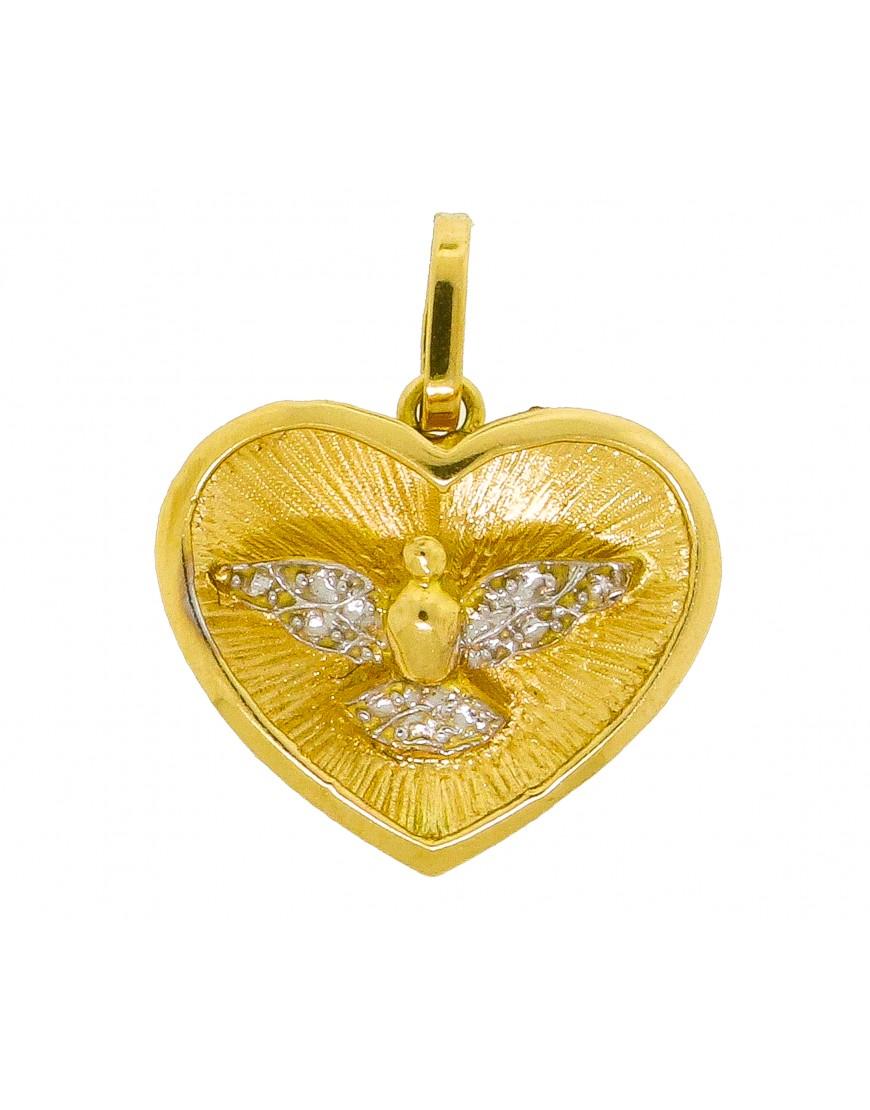 64567620c3ad2 Pingente coração com divino espírito santo - 0026365