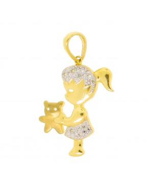 Pingente canga 4 argolas com 4 corações em ouro 18k - 0027148 ffbdf723e9628