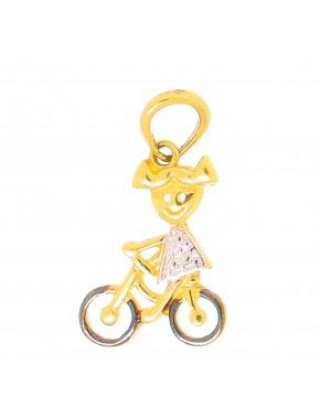 76610df1adbdb Pingente menina com bicicleta - 0010448