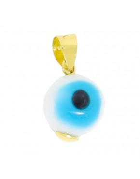 7e60485113fc0 Pingente redondo olho grego em ouro 18k - 0018083