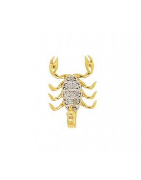 5a63c38c01c8c Pingente de escorpião com 9 brilhantes em ouro 18 k - 0023479