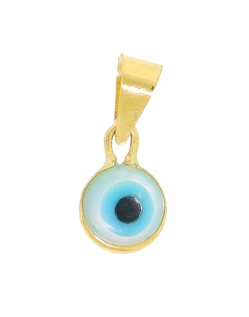 f85d0c3d46dfc Pingente redondo olho grego pequeno em ouro 18k - 0026685