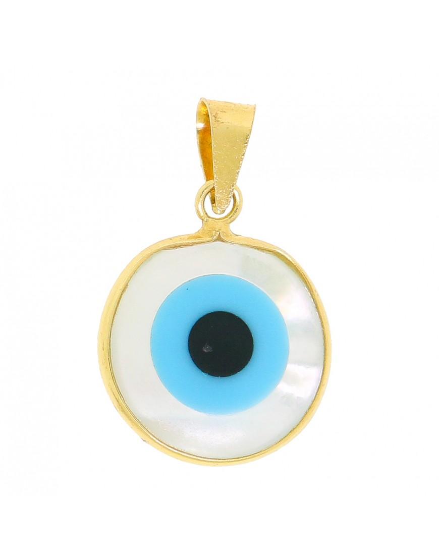 2db4b8d637b75 Pingente olho grego em ouro 18k - 0032112