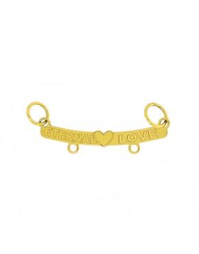 Pingente de canga love com 2 argolas em ouro 18k - 0032903 8ac8f2ff2ef3d
