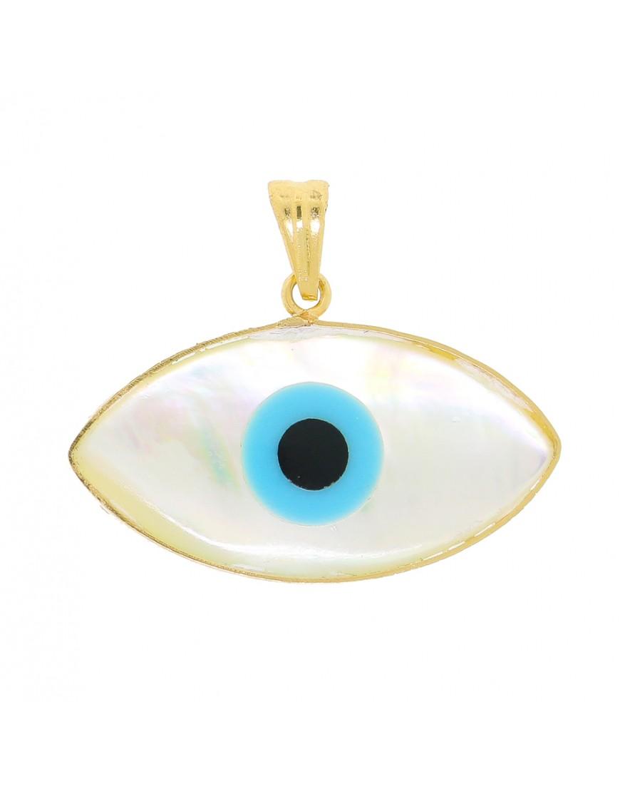 98967c53046ac Pingente de olho grego navete em ouro 18k - 0033053