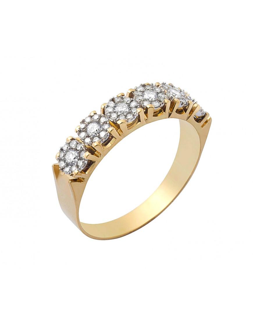 a35a1ce238606 Meia aliança com 40 brilhantes em ouro 18k - 0016055 popup Meia aliança com  40 brilhantes em ouro 18k - 0016055